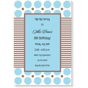 Childrens Birthday Party Invitations   Dot Shot Blue