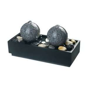 Kenroy Home Bocce Lighted Indoor and Outdoor Table Fountain In Black