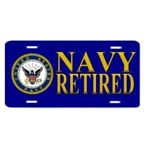 United States Navy Retired USN Auto Vanity Front License