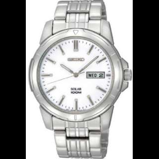 Seiko SNE091 Mens Stainless Steel Solar Silver Watch