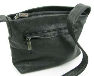 Stone Mountain Black Soft Leather Shoulder Purse Handbag Pre Owned Bag