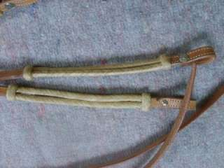 BRAIDED RAWHIDE LEATHER HEADSTALL AND REINS RANCH HORSE TACK COWBOY