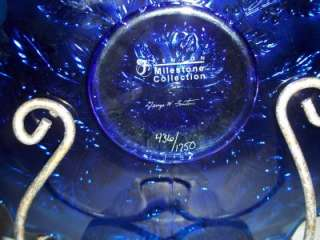BLUE CARNIVAL HOLLY PLATE LTD ED # 436/1750  Exclusive
