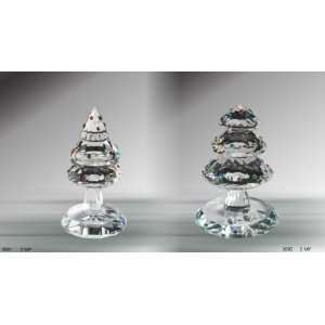 Crystal Figurines ~ Christmas Tree Figurines Set of 2