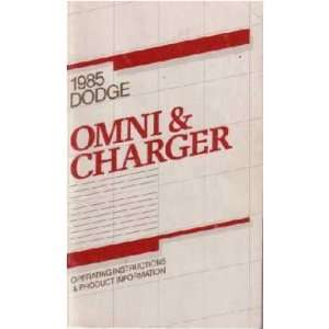 1985 DODGE CHARGER OMNI Owners Manual User Guide