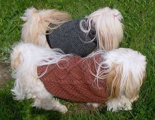 DOG SWEATER COAT HANDKNIT ORIGINAL MEDIUM WOOL MOHAIR