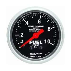 Sport Comp Mechanical Fuel Pressure Gauge 2 1/16 in. 0   1.0