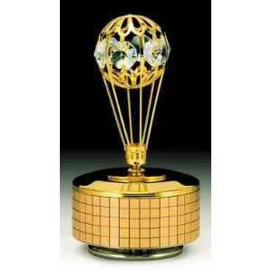 Balloon 24k Gold Plated Swarovski Crystal Music Box