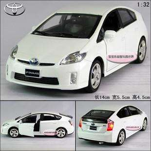 New 132 Toyota Prius Alloy Diecast Model Car With Sound&Light White