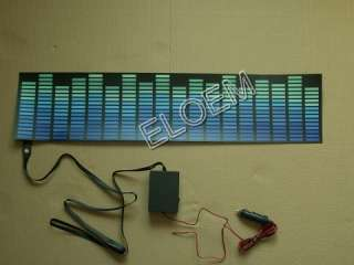 sound/musice activated car sticker equalizer glow flash blue light el