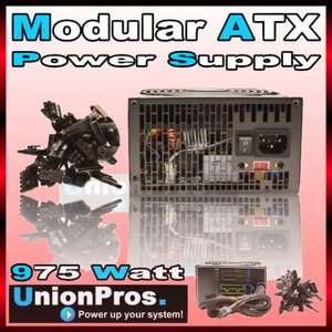 975W Modular ATX Power Supply Silent 14CM Fan 900W 950W