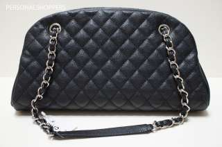 CHANEL JUST MADEMOISELLE JM BLACK CAVIAR LEATHER BOWLER BAG