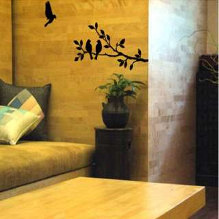 Tree Bird Adhesive WALL STICKER Removable Graphic Decal