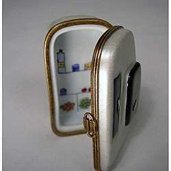 Limoges Hand painted Porcelain Old fashioned Refrigerator Box