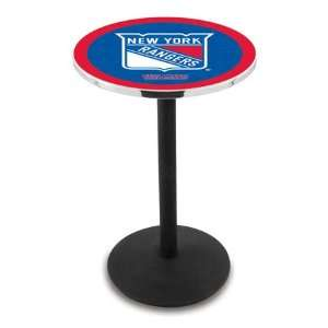 York Rangers Counter Height Pub Table   Round Base