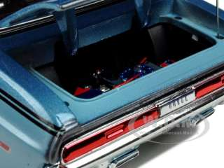 diecast car model of 1970 Dodge Challenger R/T Coupe Blue by Maisto