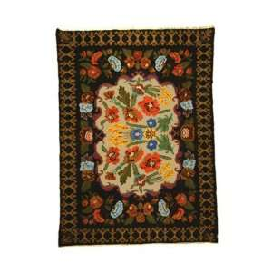Rugs USA Royal Garden 6 10 x 9 6 black Area Rug