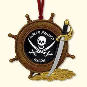 Ships Wheel Mini Frame Pirate Photo Ornament / Magnet