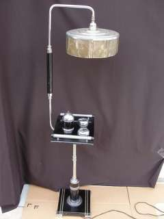 Rare Machine Age Antique 1930s Art Deco Chase Chrome Floor Lamp