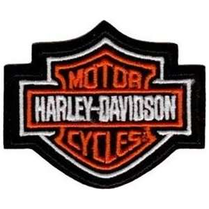 Harley Davidson Motorcycles Orange Bar & shield Patch Badge Emblem New