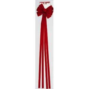 52inch Red Velvet Bow 11 Loop