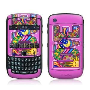 Love Text Design Skin Decal Sticker for Blackberry Curve