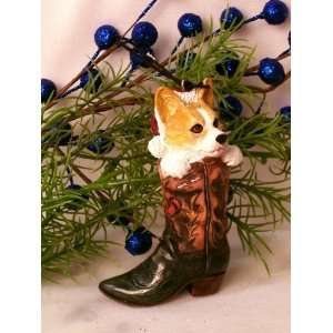 Quality  Christmas Ornament Corgie Dog In Boot Patio, Lawn & Garden