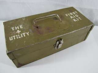 Military FIRST AID KIT with Contents VINTAGE ~FASTship