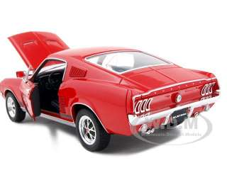 1967 FORD MUSTANG GT RED 124 DIECAST MODEL CAR