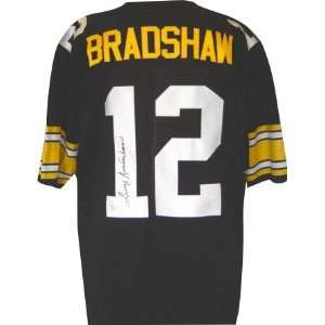 Terry Bradshaw Autographed Black Custom Jersey Sports