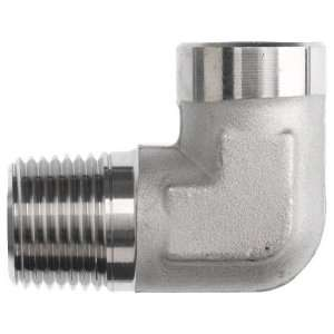 Brennan 5502 06 06 SS Stainless Steel Pipe Fitting, 90 Degree Elbow, 3