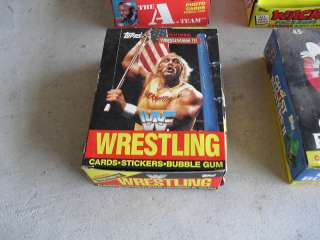 RARE 1987 Topps WWF Wrestling Cards Full Box LOOK