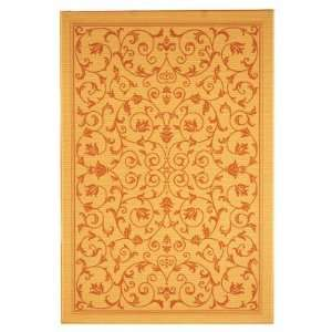 Safavieh Courtyard 2098 Indoor/Outdoor Area Rug   Gold