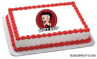 Betty Boop Birthday Edible Image Icing Cake Topper