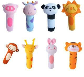 Baby Pram Crib Toy Activity Soft Toy Rattles 15 x 5cm 8 Styles