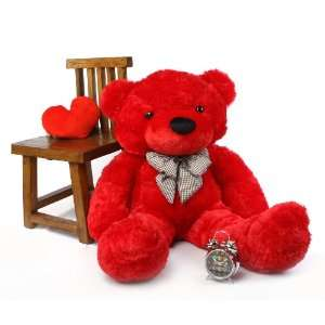 Super Soft & Huggable, Red Plush Teddy Bear, By Giant Teddy Toys