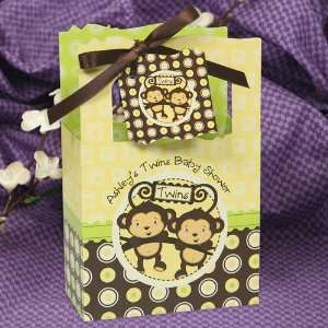 Monkeys Neutral   Classic Personalized Baby Shower Favor Boxes Toys