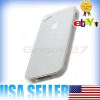 Bumper Frame TPU Silicone Case for iPhone 4S 4G W/Side Button