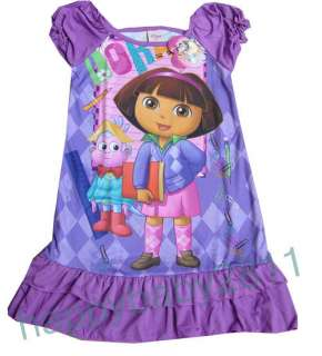 Dora L for age 6 7 Girls Princess version sleepwear Night Dress