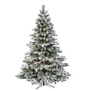 58 Flocked Aspen Christmas Tree LED 400 WmWht Lights