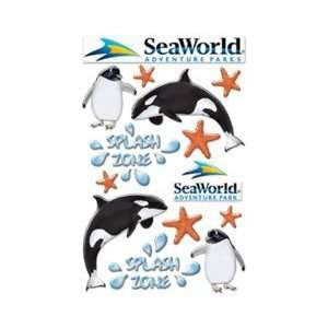Sea World Adventure Parks Collection Epoxy Stickers Arts