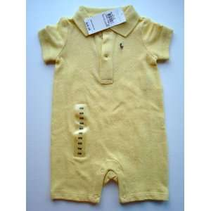 Toddler Baby Boy Girl Yellow Onesie Romper, Size 6 Months Baby