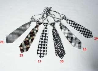 Fashion New Kids Boys Childrens Neck Ties Necktie With Elastic Thirty