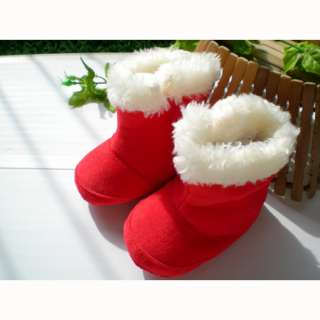 Baby Girls Red Christmas Winter Boots Shoes 3 12 Months WN226