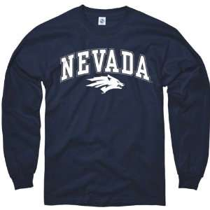 Nevada Wolf Pack Youth Navy Perennial II Long Sleeve T Shirt Sports