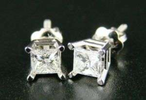 14K Mens/Ladies Princess Cut Diamond Solitaire .60 CT