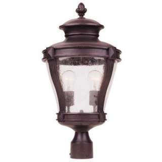 Hampton Bay 2 Light Outdoor Bronze Post Lantern  DISCONTINUED HD254162