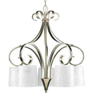 Progress Lighting Nicollette Collection Brushed Nickel 5 light