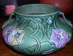 Mint Original Roseville Pottery Morning Glory Bulbous Vase 268 4 No
