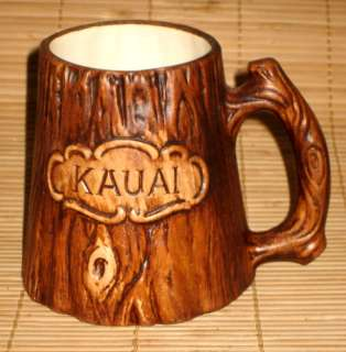 VINTAGE TREASURE CRAFT   KAUAI, HAWAII SOUVENIR MUG
